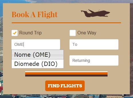 How to Book Your Flight with Bering Air: Step 2