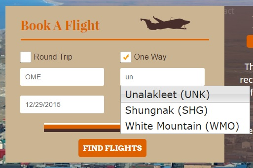 How to Book Your Flight with Bering Air: Step 3